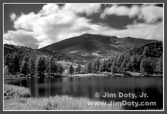 O'Haver Lake and Mt. Ouray (Colorado) in Infrared Light