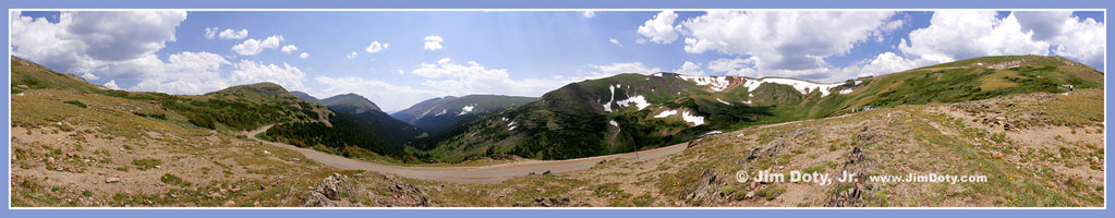 Fall River Road Panorama, Rocky Mountain National Park